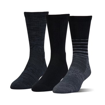 Under Armour Men's Phenom Twisted Crew Socks 3-Pack - Black Assorted
