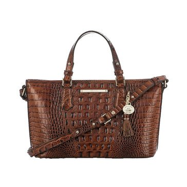 Brahmin Mini Asher Satchel Pecan Melbourne
