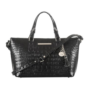 Brahmin Mini Asher Satchel Black Melbourne