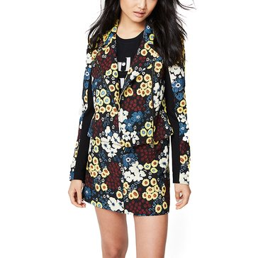 Rachel Roy Floral Moto Jacket in Black