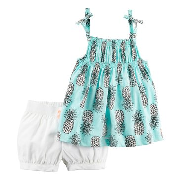 Carter's Toddler Girls' 2-Piece Woven Shortset