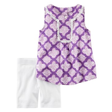 Carter's Toddler Girls' 2-Piece Woven Bikeshort Set