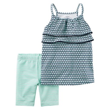 Carter's Toddler Girls' 2-Piece Knit Bikeshort Set