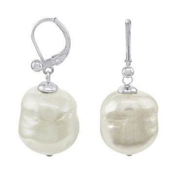 Majorica 12mm Simulated Baroque Pearl Drop Earrings