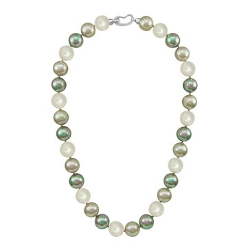 Majorica 12mm Simulated Multi Colored Round Pearl Strand Necklace