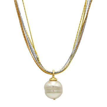 Majorica 16mm Simulated Baroque Pearl Drop Necklace