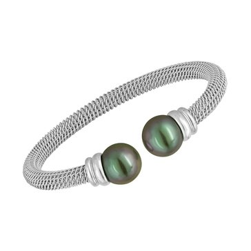 Majorica 12mm Simulated Grey Round Pearl Bangle