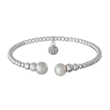 Majorica 8mm Simulated Round Pearl Bead Bangle