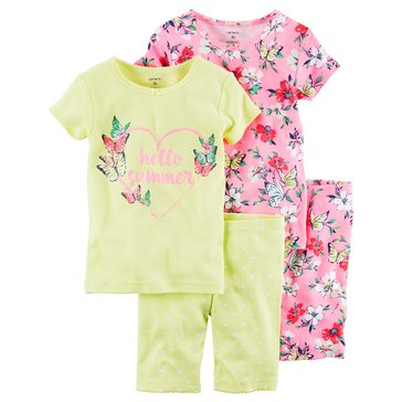Carter's Big Girls' 4-Piece Flower Pajama Set