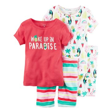 Carter's Toddler Girls' 4-Piece Paradise Pajama Set