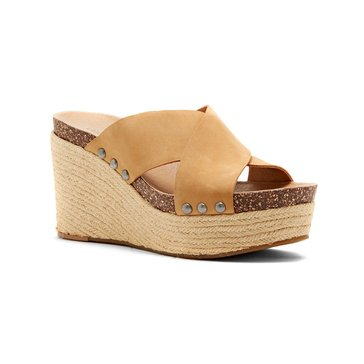 Lucky Brand Neeka Women's Cross Band Wedge Sandal Sandbox