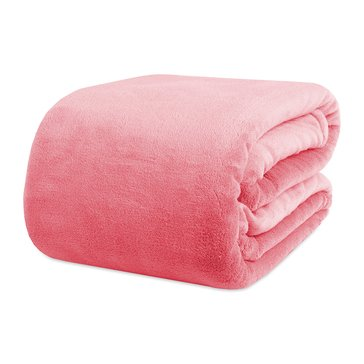 Shearling Blanket, Coral - Twin/Twin XL