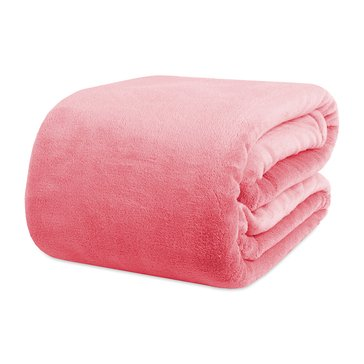 Shearling Blanket, Coral - Full/Queen