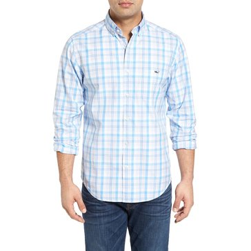 Vineyard Vines Men's Bay Plaid Slim Tucker Sportshirt