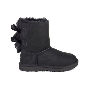 UGG K Bailey Bow II Girl's Casual Boot  Black