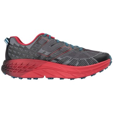 Hoka Men's Speedgoat 2 Trail Shoe - Black / True Red