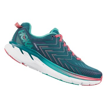 Hoka Women's Clifton 4 Running Shoe - Blue Coral / Ceramic