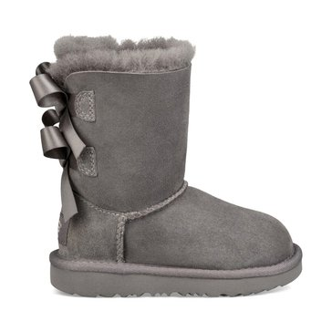 UGG T Bailey Bow II  Girl's Casual Boot Grey