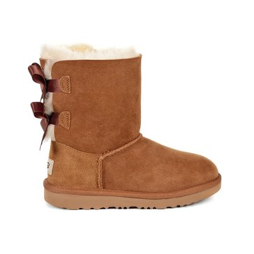 UGG K Bailey Bow II Girl's Casual Boot Chestnut