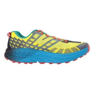 Hoka Men's Speedgoat 2 Trail Shoe - Citrus / Dresden Blue