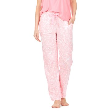 Nautica Knit Pant Pink Spring Leaf