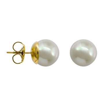 Majorica 10mm Simulated Round Pearl Stud Earrings