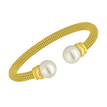 Majorica 12mm Simulated Round Pearl Bangle