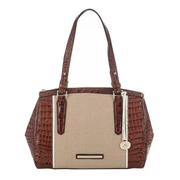 Brahmin Small Alice Shoulder Bag Pecan Bal Harbour