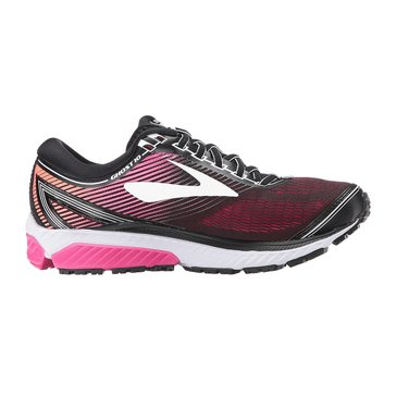 Brooks Women's Ghost 10 Running Shoe - Black / PinkPeacock / LivingCoral
