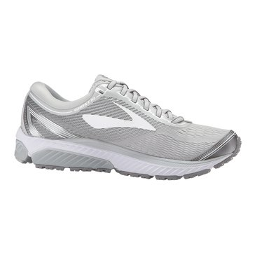 Brooks Ghost 10 Women's Running Shoe - Microchip / White / MetallicCharcoal