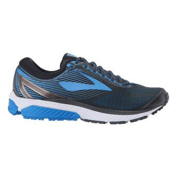 Brooks Ghost 10 Men's Running Shoe - Ebony / MetCharcoal / Electric Brooks Blue