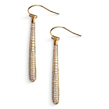 Kate Spade Gold Pave Linear Earrings