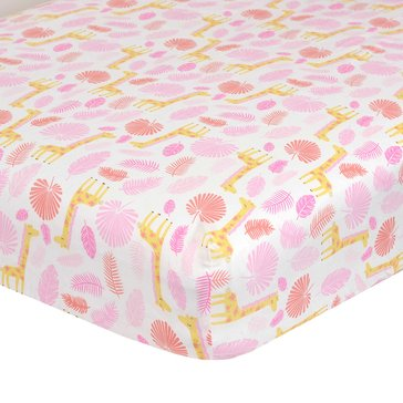 Just Born Fitted Crib Sheet - Welcome to the Jungle