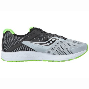 Saucony Ride 10 W Men's Running Shoe - Grey / Black / Slime