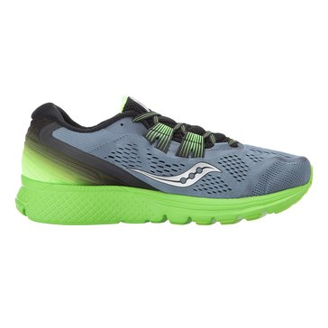 Saucony Zealot ISO3 Men's Running Shoe - Grey / Black / Slime
