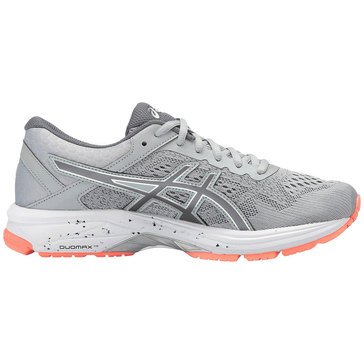Asics GT-1000 6 Women's Running Shoe - MedGrey / Carbon / FlashCoral