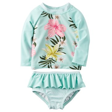 Carter's Baby Girls' 2-Piece Floral Rashguard Set