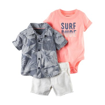 Carter's Baby Boys' 3-Piece Shorts Set, Surf Dude