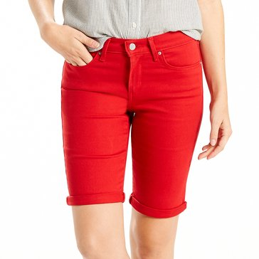 Levi's Women's Bermuda Short Soft Cherry Bomb