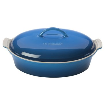 Le Creuset 2.5-Quart Heritage Covered Oval Casserole, Marseille Blue