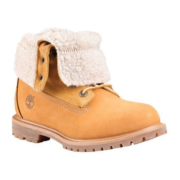 Timberland Authentic Teddy Fleece Women's Fold Down Boot Wheat Nubuck