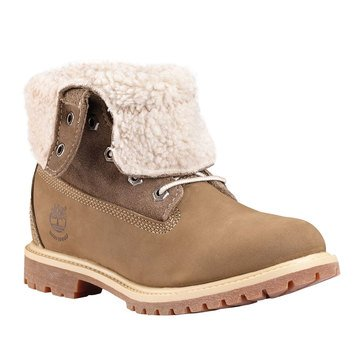 Timberland Authentic Teddy Fleece Women's Fold Down Boot Light Brown Nubuck