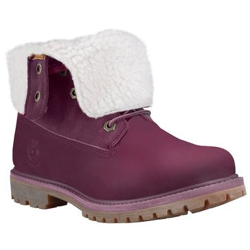 Timberland Authentic Teddy Fleece Women's Fold Down Boot Port Nubuck
