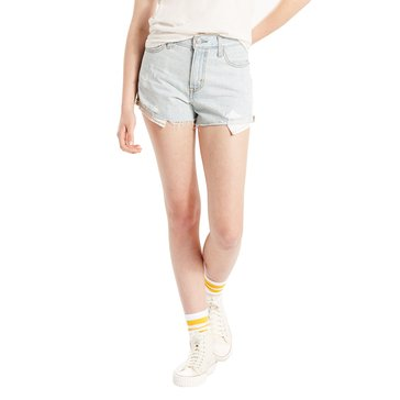 Levi's Women's Styled Hi Rise Short Birch Blue