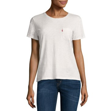 Levi's Women's Perfect Pocket Tee White
