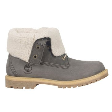 Timberland Authentic Teddy Fleece Women's Fold Down Boot Dark Grey Nubuck