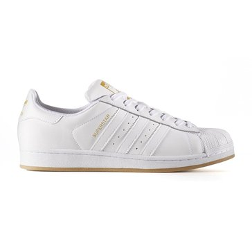 adidas Superstar Men's Basketball Shoe - Footwear White / Gold Metallic / Gum3