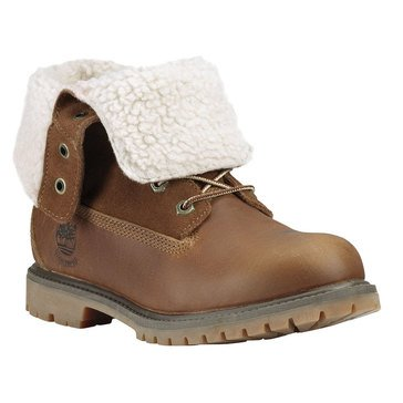 Timberland Authentic Teddy Fleece Women's Fold Down Boot Dark Brown