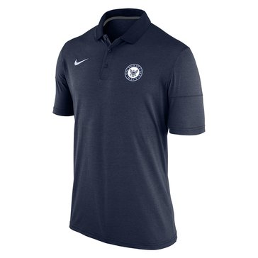 Nike Men's Navy Logo Short Sleeve Dry Polo