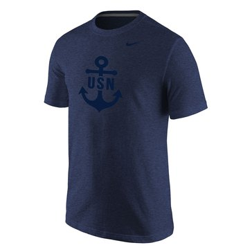 Nike Men's USN Anchor Tri-Blend Short Sleeve Tee